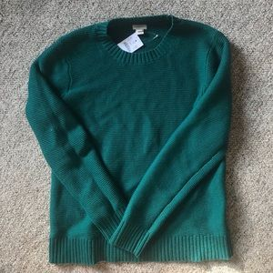 Jcrew Green Classic Crewneck Sweater